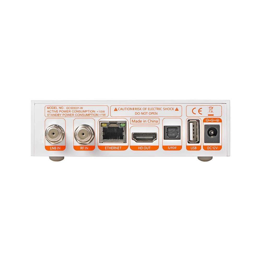 GTmedia GTC Récepteur Android 6.0 BOÎTE de télévision DVB-S2 DVB-C DVB-T2 Amlogic S905D 2GB 16GB + 1 An cccam Récepteur de TÉLÉVISION Par Satellite TV BOX