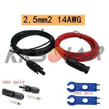 1 пара медный кабель для солнечной батареи 25 мм 14 awg