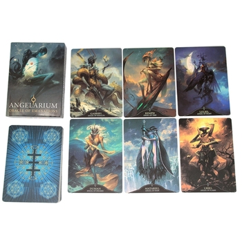 Angelarium Oracle Of Emanations Full English 33 Cards Deck Tarot Family Party Board Game Divination Card недорого