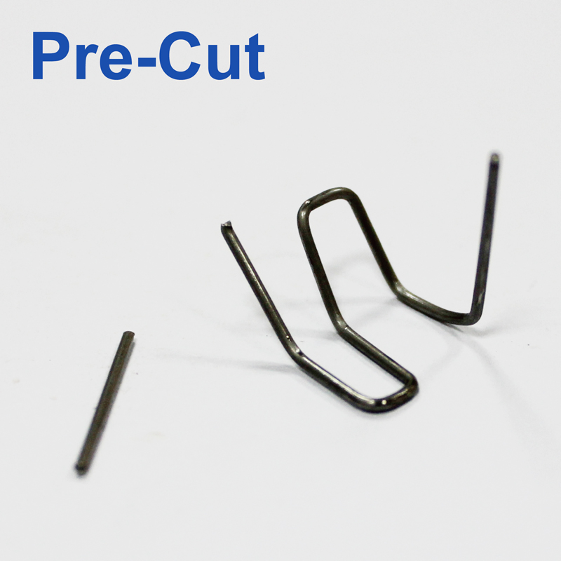 100pcs Pre-cut 0.8mm Curved Double Corner Hot Stapler Plastic Bumper Welding Repair Staples