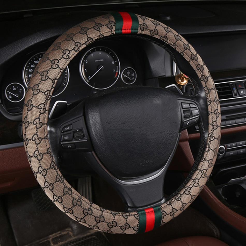 Couverture de volant de voiture en lin mat Flash pour Dongfeng FengShen AX3 H30 S30 A60 A30 AX5 AX4 E70 A9 jinyi x5 pour Dongfeng voiture st