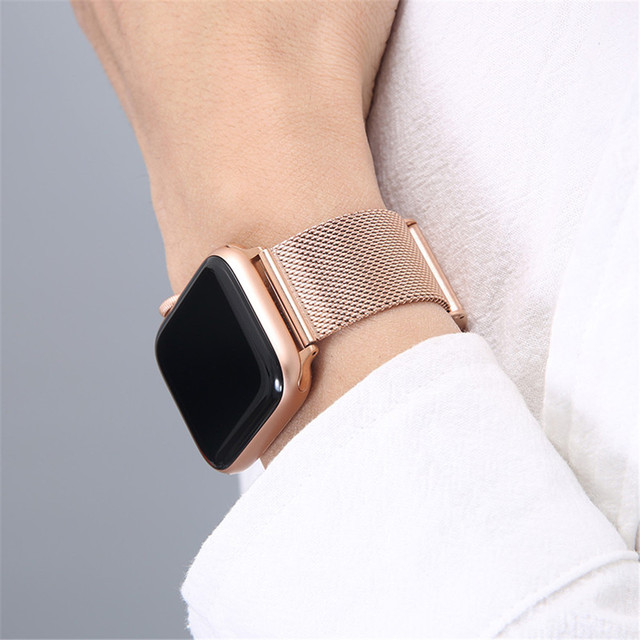 For Apple Watch Band 6 SE 40mm 44mm iWatch 5 4 Stainless Steel Bracelet for Applewatch 42mm 38mm iWatch 3 Milanese Wrist Strap 1