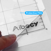 Aibecy 12 Inch Cutting Machinet PP Materia Special Pad Measuring Grid Repalcement Translucenl Adhesive Mat With Clear Film