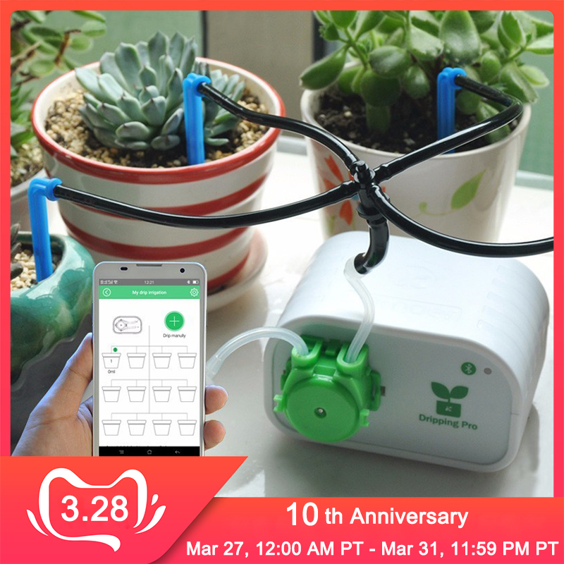 Cell Phone Control Intelligent Garden Automatic Watering  Controller Indoor Plants Drip Irrigation Device Water Pump Timer  SystemWatering Kits