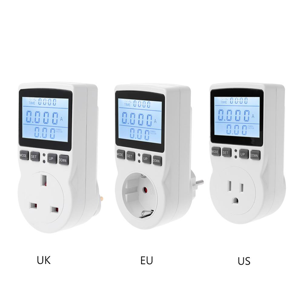 Digital Power <font><b>Meter</b></font> Socket EU/US/UK Plug Energy <font><b>Meter</b></font> Current Voltage Watt <font><b>Electricity</b></font> Cost Measuring Monitor Power Analyzer Ele image