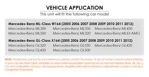 Image 5 - Android 10.0 7 Inch 2 Din Auto Dvd Radio Voor Mercedes Benz Gl Ml Klasse W164 ML350 Usb Stalen Wiel controle Rds Dvr Gratis Camera