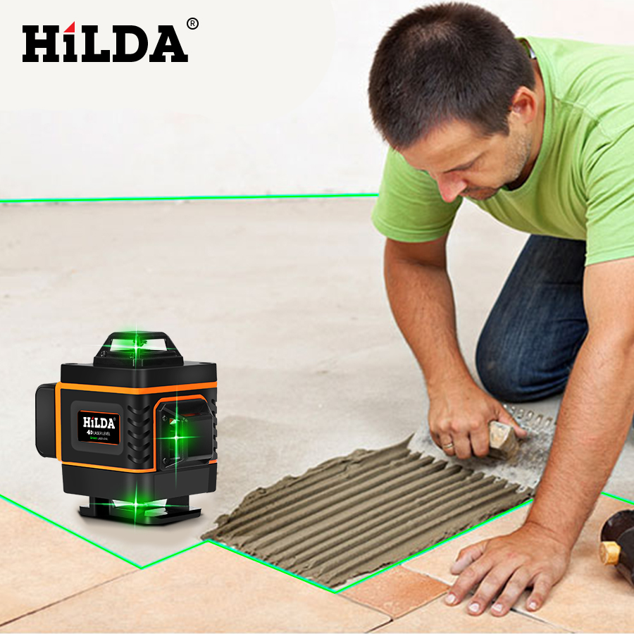 HILDA 16 Lines 4D Self Leveling Laser Level with Buzzing Alarm for Indoor and Outdoor Use 5