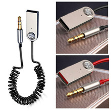1 Uds. Adaptador USB Bluetooth Cable de dongle para coche 3,5mm Jack Aux Bluetooth 5,0 4,2 4,0 receptor altavoz Audio música transmisor(China)