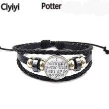 Harriom Magic Spell Time Gem Weave Beaded Bracelet Children World Cosplay Potter  Toy Halloween Gift Jouet