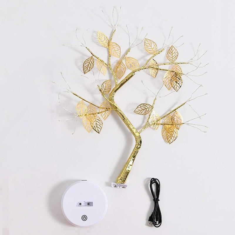 Светодиодная лампа бонсай на дереве, 72 светодиода с USB/аккумулятором, сенсорный выключатель, декоративная лампа для детской, спальни, гостиной, TB Sa