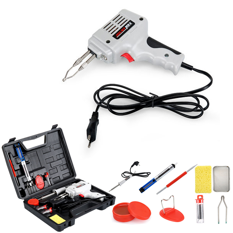 220V-240v 100W Soldering Station Kit  Copper Core Quick Heating Electrical Solder Iron Gun Fast Electric Welding Tool Set