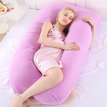 Подушка для сна беременных с хлопковой наволочкой женского тела