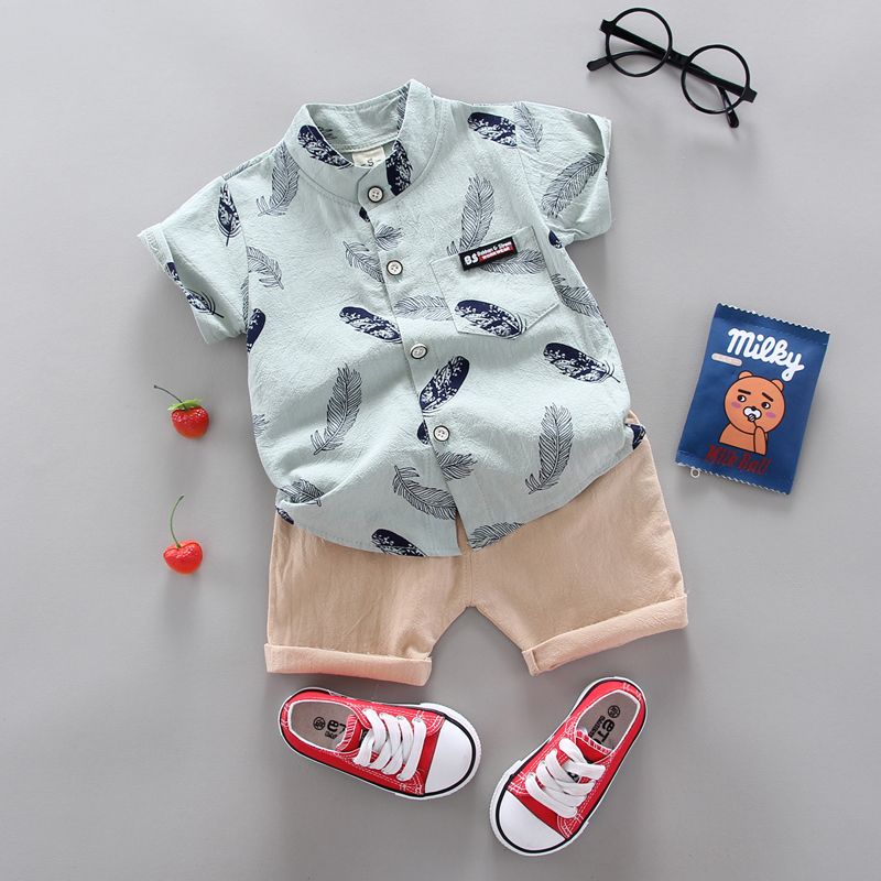 Boy Clothing Casual  Baby Girl's Summer Clothes   Set Sports shirt+ Shorts Suits  Clothes Cotton products Kids clothes 2