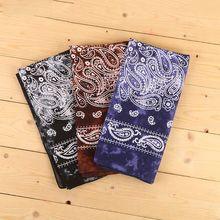 Bandana Japanese Vintage Unisex Cotton Scarf Pocket Neck-Tie Square Tie-Dye Paisley Washed