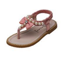 Girls Sandals Flip-Flops Kids Shoes Beach Pearl Bowknot