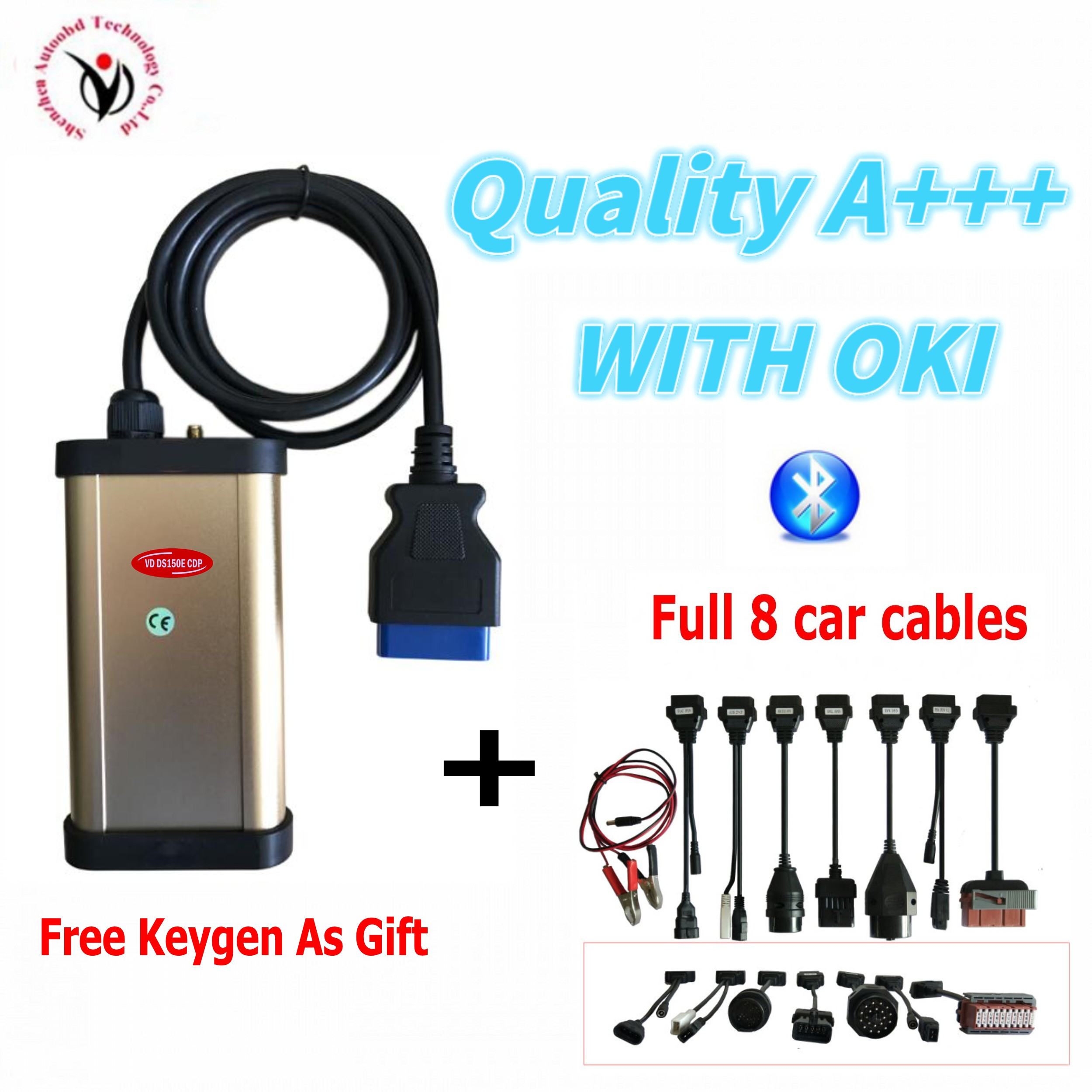 OKI CHIP ! Vd Ds150e Cdp New Gold With Bluetooth + Keygen For Vdijk Autocoms Pro Cars&trucks Obd2 Obd Diagnostic Tool Free Ship