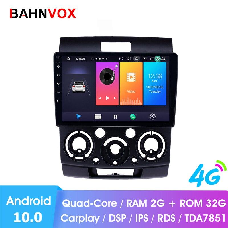 """9 """"android 10.0 ram2g carro gps dvd player para ford everest/ranger mazda BT-50 rádio do carro unidade de cabeça estéreo navegação multimídia"""