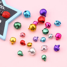 6/8/10mm mixed color Jingle Bells Christmas ring bells For Festival Party Decoration/Christmas Tree Decoration/DIY Crafts 100pcs