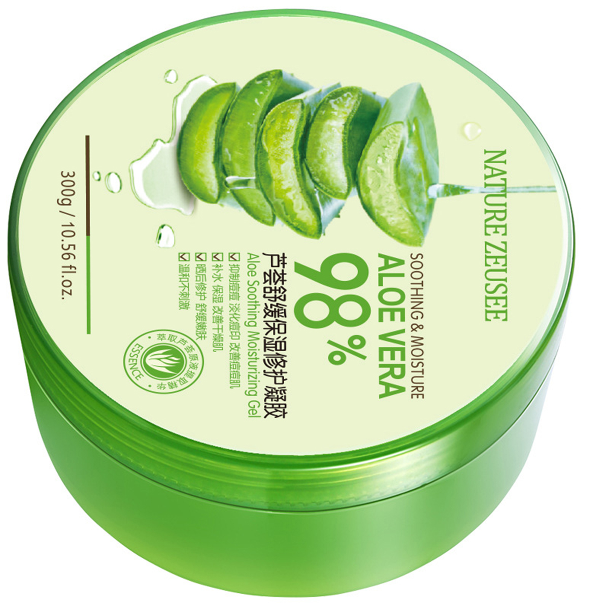 300g​ Nature Aloe Vera Gel Organic Oil-Control Face Skin Care Hydrating Repair Smoothing Moisturizing Gel Body Sunburn Relief