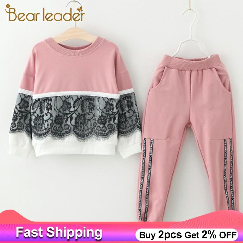 Children Clothing Suit Sweatshirts Pants Spring Bear Leader Girls Active New Cartoon title=