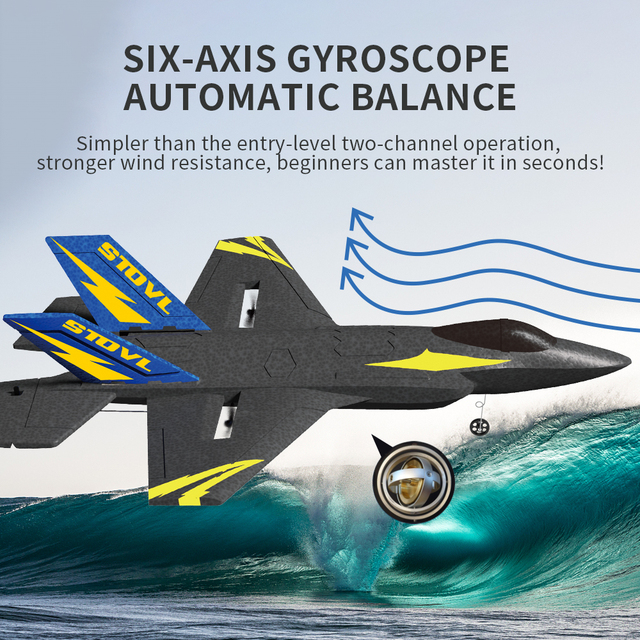 KF605 KFPLANE Fighter 2.4G 4CH 6-Axis Gyroscope Automatic Balance 360 Rollover EPP RC Glider Airplane RTF Electric RC Aircraft 5