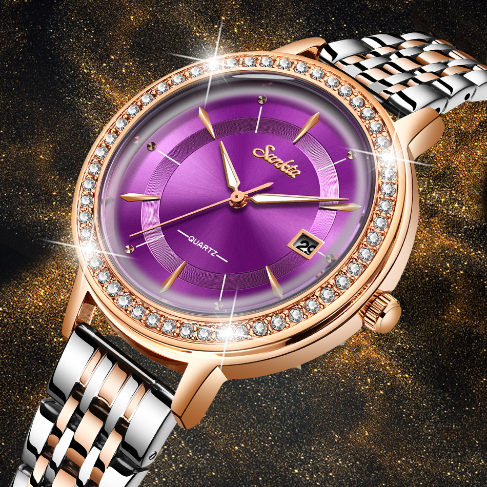 SUNKTA New Rose Gold Women Watch Business Quartz Watch Ladies Top Brand Luxury Female Wrist Watch Girl Clock Relogio Feminin+Box