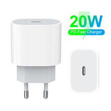 PD 20W 18W USB Charger Fast Charging For iPhone 12 11 Pro Max 8 7 6 Plus Type C EU Mobile Phone Adapter Xiaomi Samsung S21 S20
