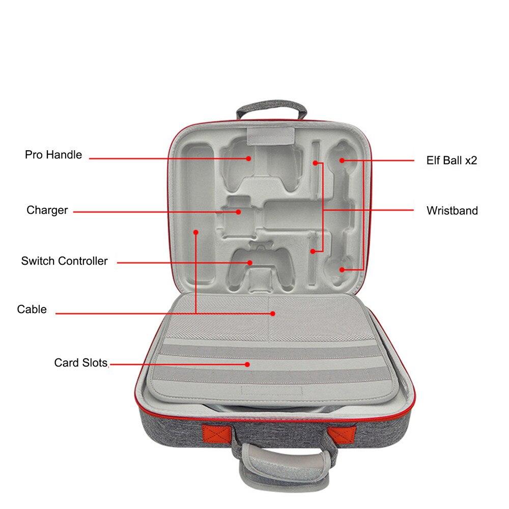 Sac de rangement dur portatif d'eva pour le sac de étui de protection de transport de voyage de câble de chargeur de contrôleur de jeu d'anneau de forme physique de commutateur de nintention - 6