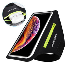 Lauf Sport Telefon Fall auf Hand Mobile Halter Armbinden Für Airpods Pro iPhone 11 XS Max 7 Plus Samsung A51 zipper Tasche Arm Band(China)