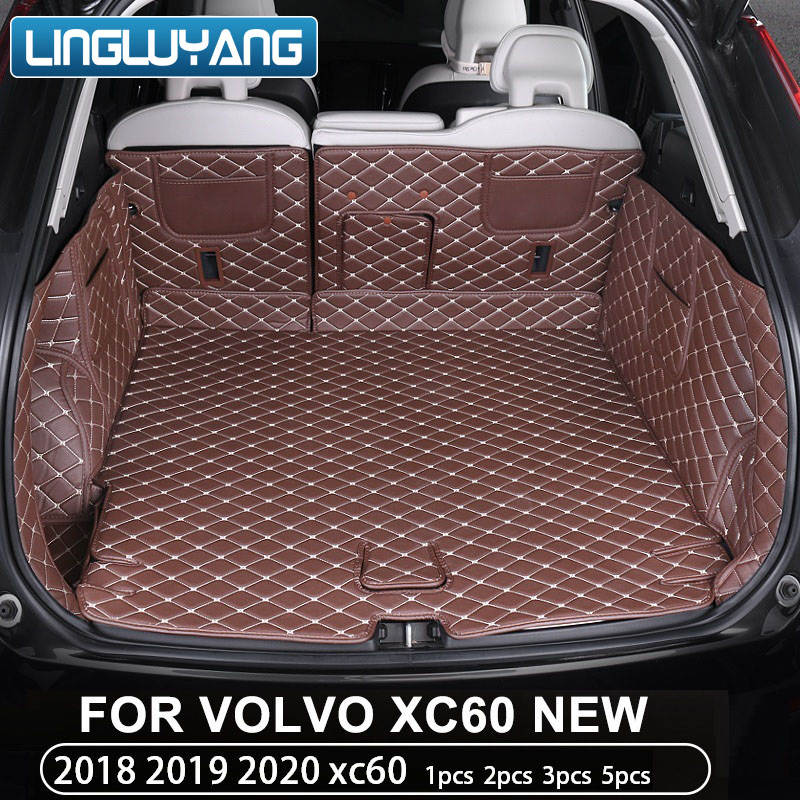 For Volvo Xc60 2018 2019 2020 Trunk Mat Full Surround Carpet Tail Box Mat Decoration Car Accessories