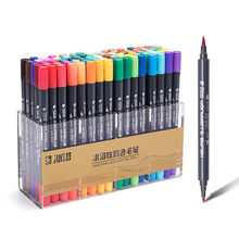 12/24/36/48 Colors Dual Tip Brush Pen Set Portable Lettering Markers Art Marker for Drawing Art Supplies
