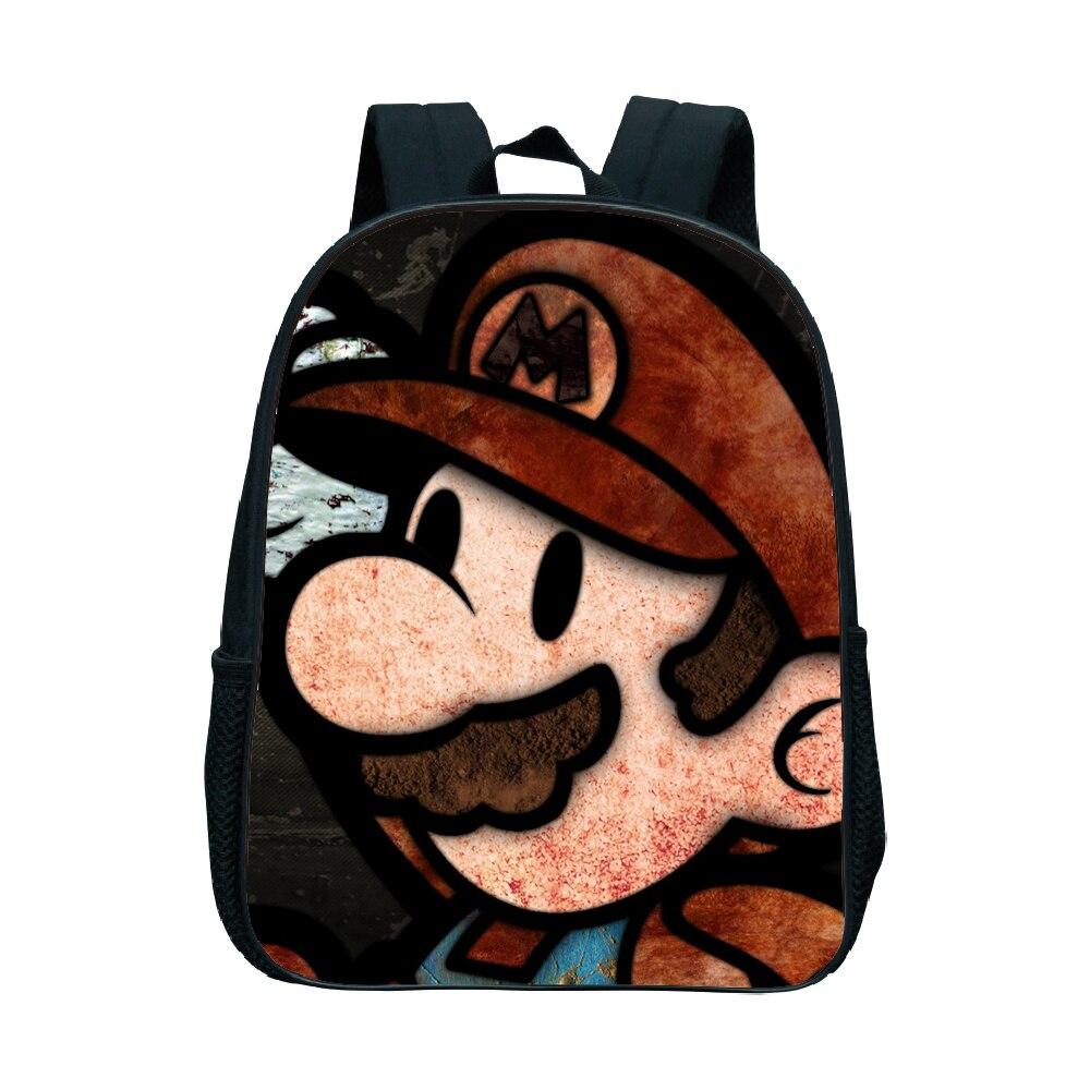 Kindergarten Backpack School-Bags Super-Mario-Bros Children Rucksack Cartoon Best-Gift