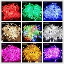 Luzes de natal 10m 20m 30m 50m 100m decorativo led string luz de fadas 8 modos guirlandas luzes para a festa de casamento luzes do feriado
