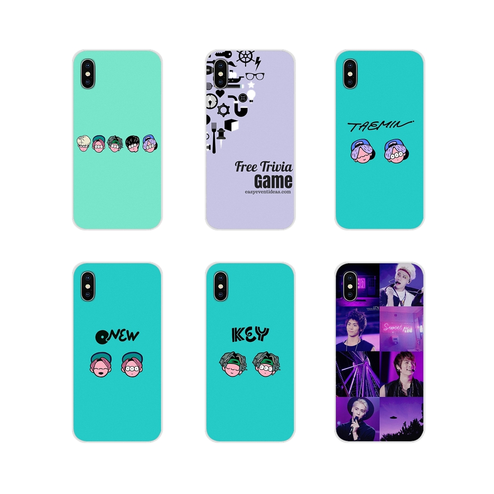 <font><b>kpop</b></font> Shinee group Accessories <font><b>Phone</b></font> <font><b>Cases</b></font> <font><b>Covers</b></font> For Apple iPhone X XR XS 11Pro MAX 4S 5S 5C SE 6S 7 8 Plus ipod touch 5 6 image