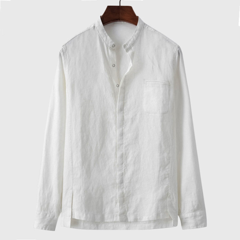 Plus Size 5XL Summer Men Shirts Long Sleeve European Style Men Dress Shirt Cotton Outfit Shirts Men Clothing Male Shirt B594