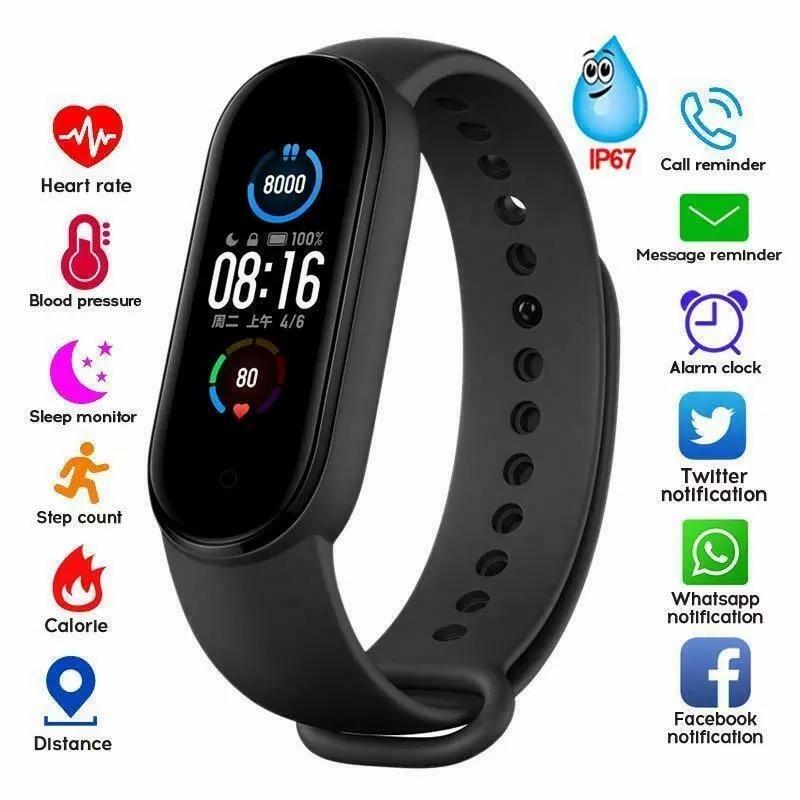 Фитнес трекер M5 для мужчин и женщин, спортивные умные часы, браслет с пульсометром, тонометром, фитнес браслет с Bluetooth, умный Браслет|Смарт-браслеты| | АлиЭкспресс