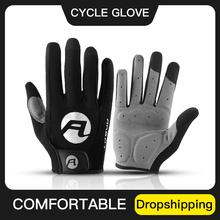 ARBOT nowe damskie męskie rękawiczki rowerowe pełne rękawice rower na palec antypoślizgowa podkładka żelowa motocykl MTB szosowe rękawiczki Luva rękawiczki tanie tanio Kyncilor CN (pochodzenie) NYLON POLIESTER Stretch Spandex Z palcami Cycling Cycling Full Finger Gloves Nadające się do prania