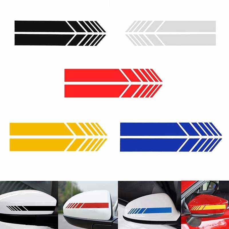 Dikiz aynası yansıtıcı araba Sticker motosiklet yarış yan şerit DIY çıkartması şerit dış aksesuar Benz BMW için Toyota VW