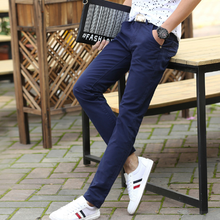 Spring/Summer new casual pants men's cotton slim chinos fashion pants men's brand clothing in 10 colors, sizes 28-38