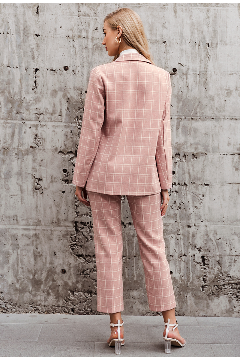 Plaid  Blazer & Pants