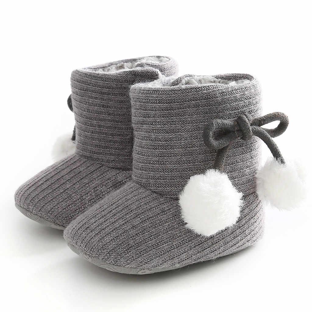 Zuigeling zachte baby meisje laarzen Winter Baby Jongens Meisjes Schoenen Anti-Slip Peuter Sneeuw Warm Prewalker botte fille enfant #3