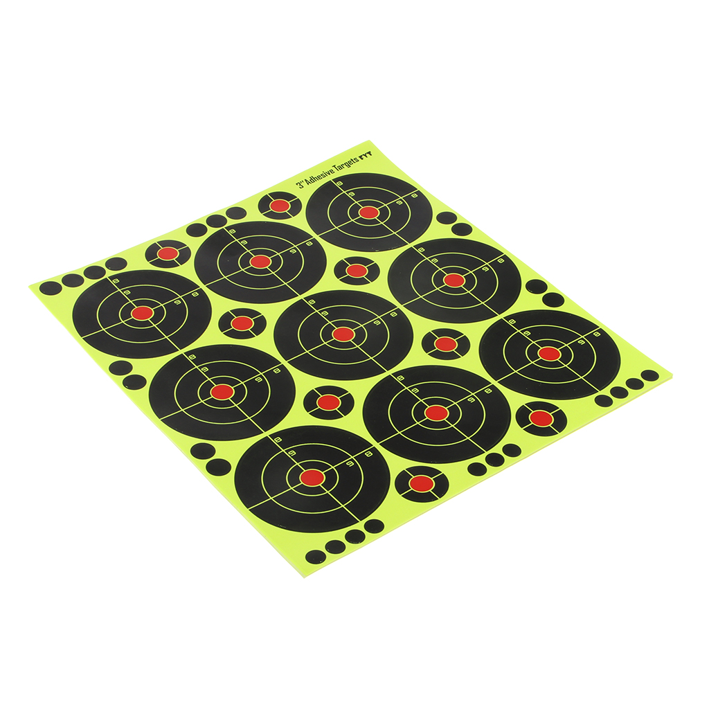 90pcs High Visibility Reactive Splatter Shooting Paper Target With Patches