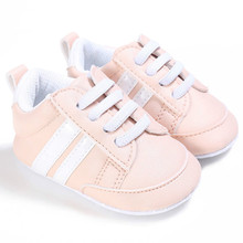 US STOCK Baby Kids Crib Sports Shoes Unisex Infant Lace Up S