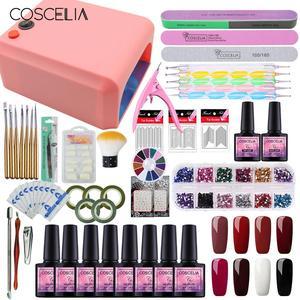 Image 2 - Manicure Set for 36/24W UV LED Nail Lamp Dryer Nail Polish Kit with Nail Drill Machine Acrylic Kit Nail Art Tools Set