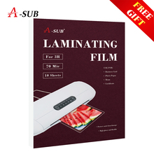 Laminating-Film Card/picture PET A4 for EVA 70mic