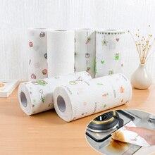 80 листов кухонной бумаги абсорбция масла водопоглощающая рулонная бумага для кухни одноразовые Тряпичные кухонные бумажные полотенца
