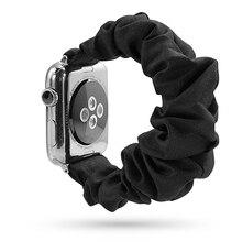 Эластичный ремешок для часов Apple Watch 5 4 ремешок 38 мм 40 мм 42 мм 44 мм ремешок для iwatch 5 4 3 2 1 Рождественский браслет на запястье