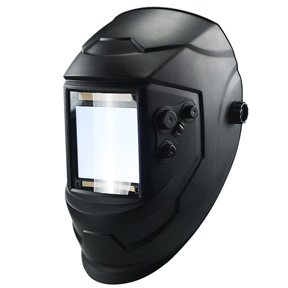 4 Arc Lens Auto Darkening Solar  Cap Grinding Welding Mask Welding Lens Big View Protecter Helmet TIG MIG