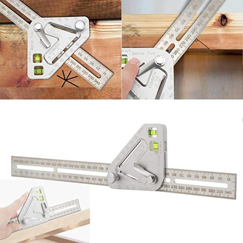 Multi-functional Corner Ruler Angle Ruler Adjustable Woodworking Gauges Tool Construction Measuring Tools