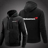 McLaren Logo 2021 Druck Freizeit Mit Kapuze Hoodies Komfortable Pullover Fleece Baumwolle Sweatshirts Casual Mode Jacken Mäntel